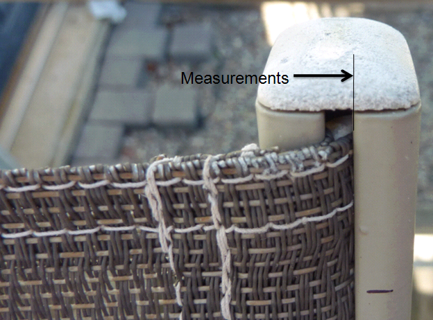The length can usually be taken off the old sling. We rarely use the width  measurement by only measuring old slings once they are ... - Outdoor Replacement Slings Patio Chair Sling Repairs