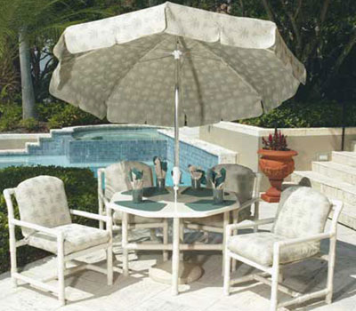 pvc patio furniture melbourne florida direct classic cushion pipe frame each item constructed sturdy weather chair plans replacement cushions