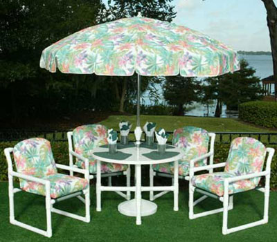 Pvc modern cushion Pvc pipe outdoor furniture